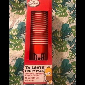 The Simpson's tailgate party pack cups